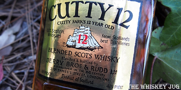 1970s Cutty Sark 12 Years Label