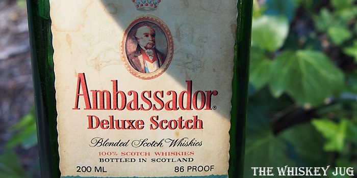 1980s Ambassador Deluxe Scotch Label