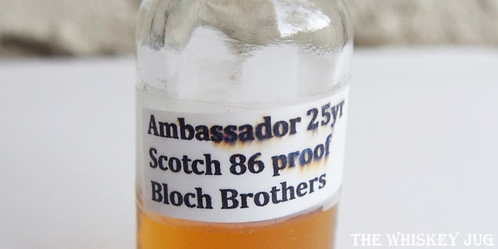 Ambassador Deluxe Scotch 25 years Label