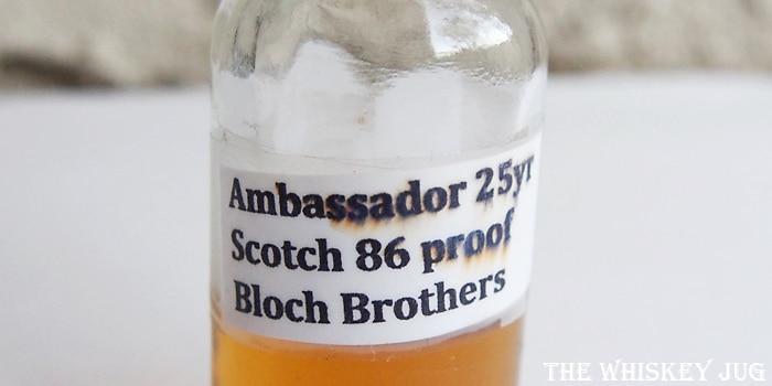 Ambassador Deluxe Scotch 25 years Label