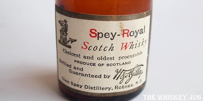 Pre-Prohibition Spey-Royal Label