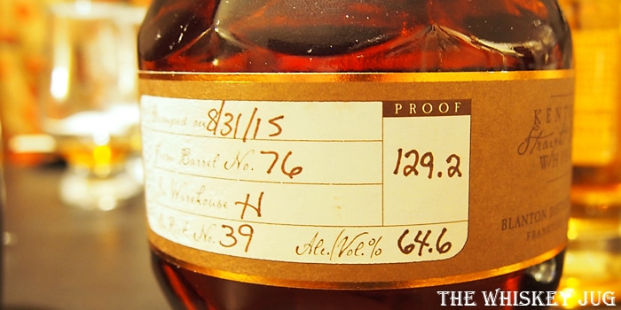 Blanton's Straight From The Barrel Label