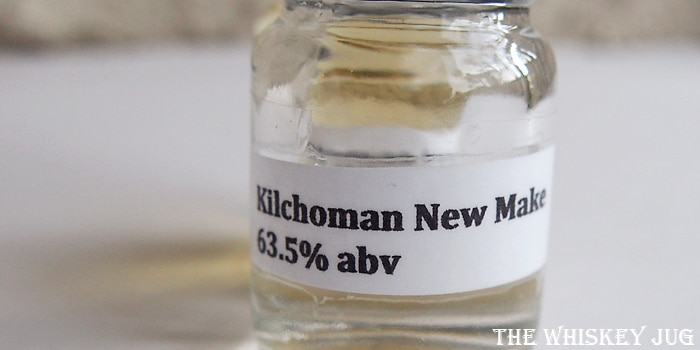 Kilchoman New Make vs Machir 2014 - New Make Label