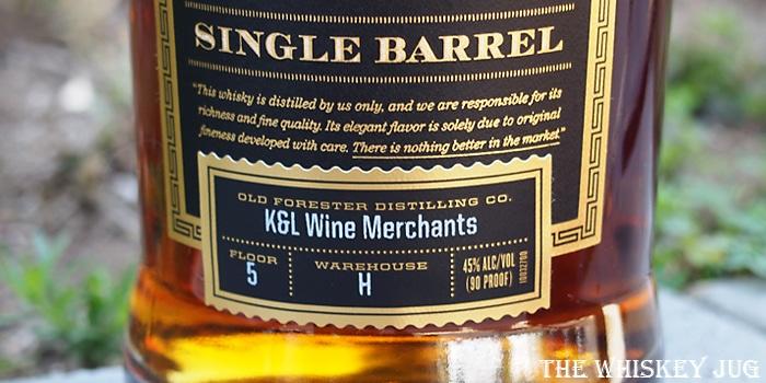 Old Forester Single Barrel Label