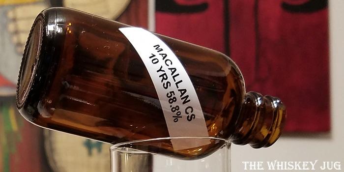 Macallan Cask Strength 10 Years Label