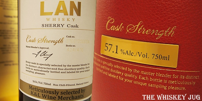 K and L Kavalan Solist Sherry Cask Label