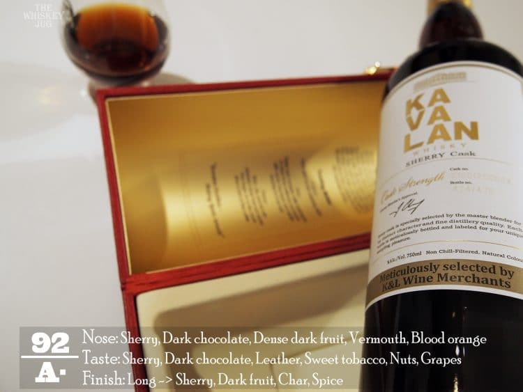 K and L Kavalan Solist Sherry Cask Review