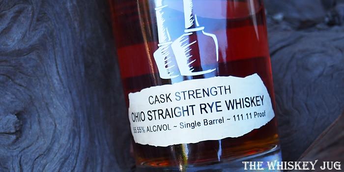Tom's Foolery Cask Strength Rye Label