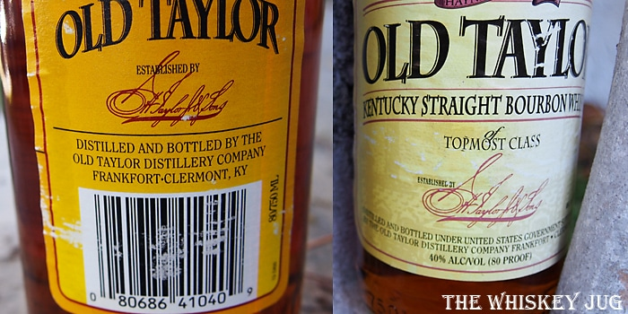 1997 Old Taylor 6 Years Label