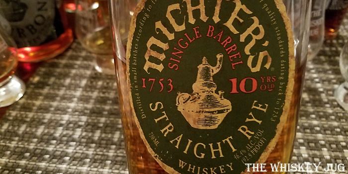 Michter's Rye 10 Years Label