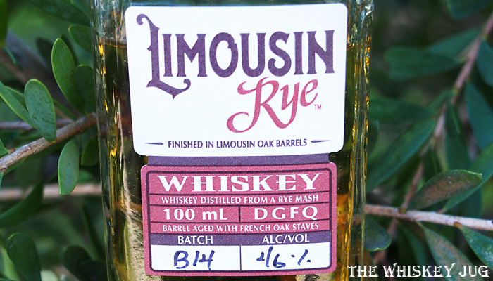Limousin Rye Whiskey Label