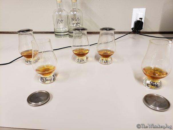 Blind rye tasting on the Balcones Distillery tour