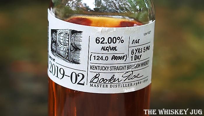 Label for the Booker's Bourbon Shiny Barrel Batch