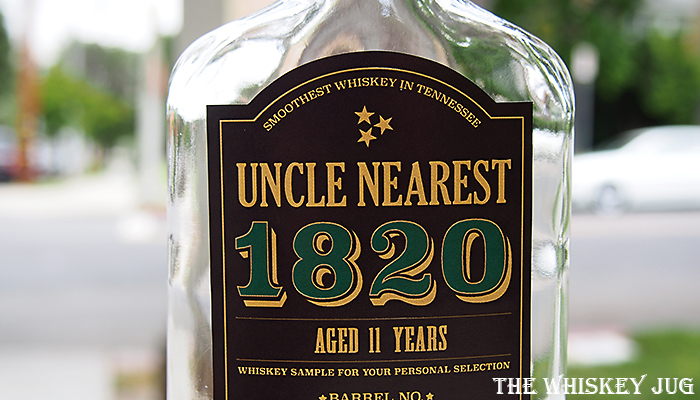 Label for the Uncle Nearest 1820