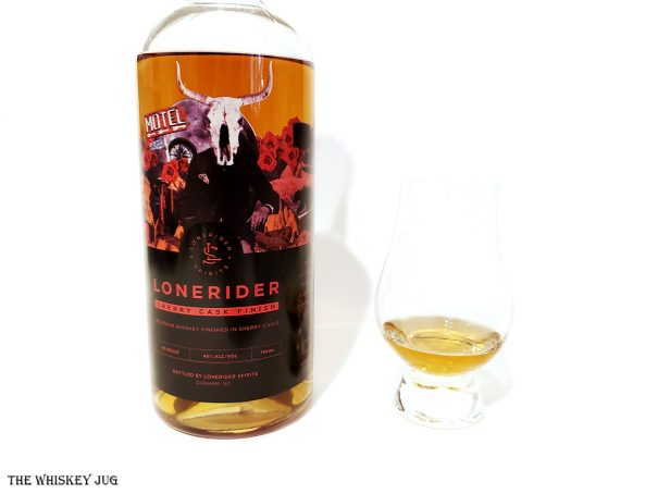 Lonerider Sherry Finish Bourbon is a sourced bourbon finished in a sherry cask. It's sweet and spicy but not cohesive.