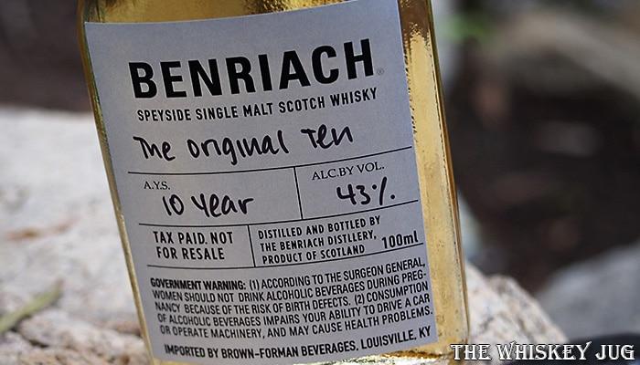 BenRiach The Original Ten Label