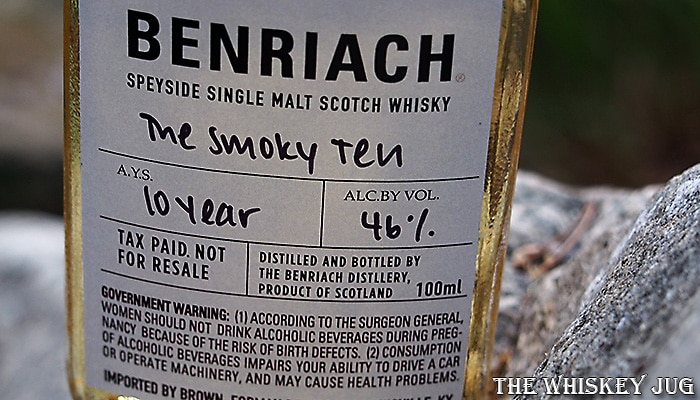 BenRiach The Smoky Ten Label