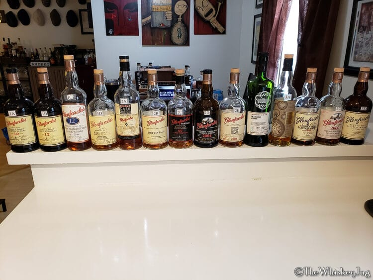 Malt Nuts - Gaggle of Glenfarclas Tasting 2 - Whole Lineup