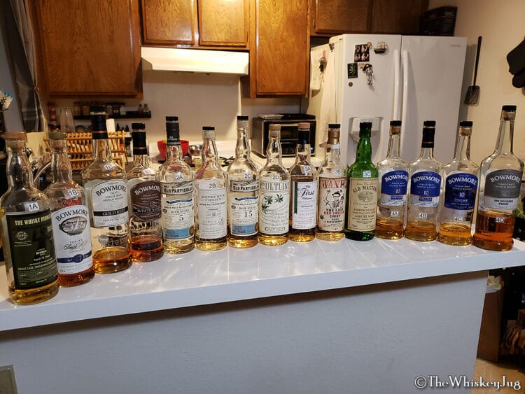Malt Nuts - ex-Bourbon Bowmore Tasting - Full Lineup