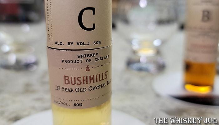 Bushmills 23 Years Crystal Malt Whiskey Label