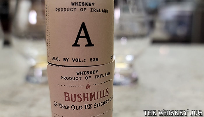 Bushmills 28 Years PX Cask Whiskey Label