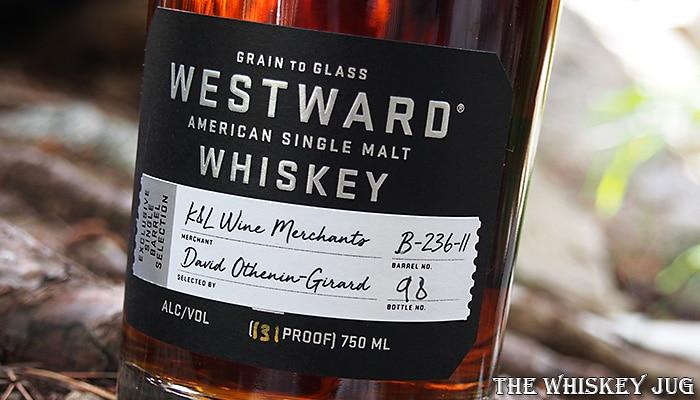 Westward Single Barrel American Single Malt Whiskey Lower Label